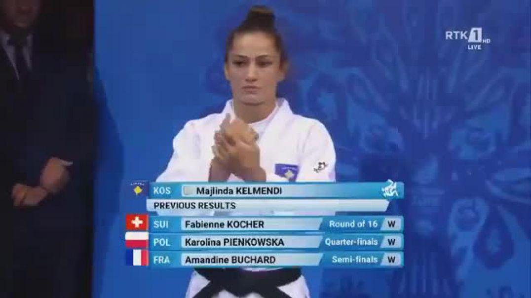 Majlinda Kelmendi na bën krenar në xhudo, thyen në finale nxënësen e Putin