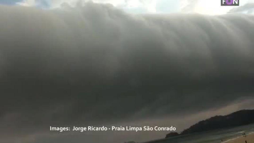 Pamjet e çuditshme të tornados horizontale në Brazil (VIDEO)