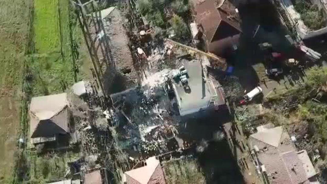 Pamje me dron nga zona e Thumanës