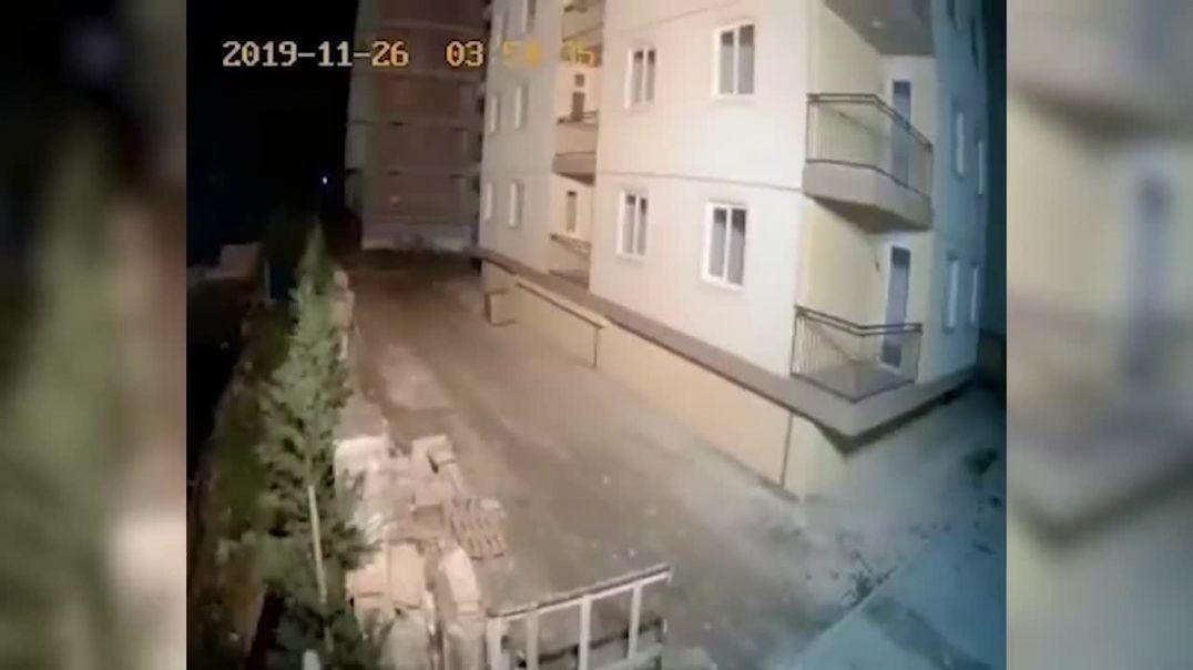 Qeni ndjen tërmetin dhe largohet nga cepi i pallatit në Shëngjin