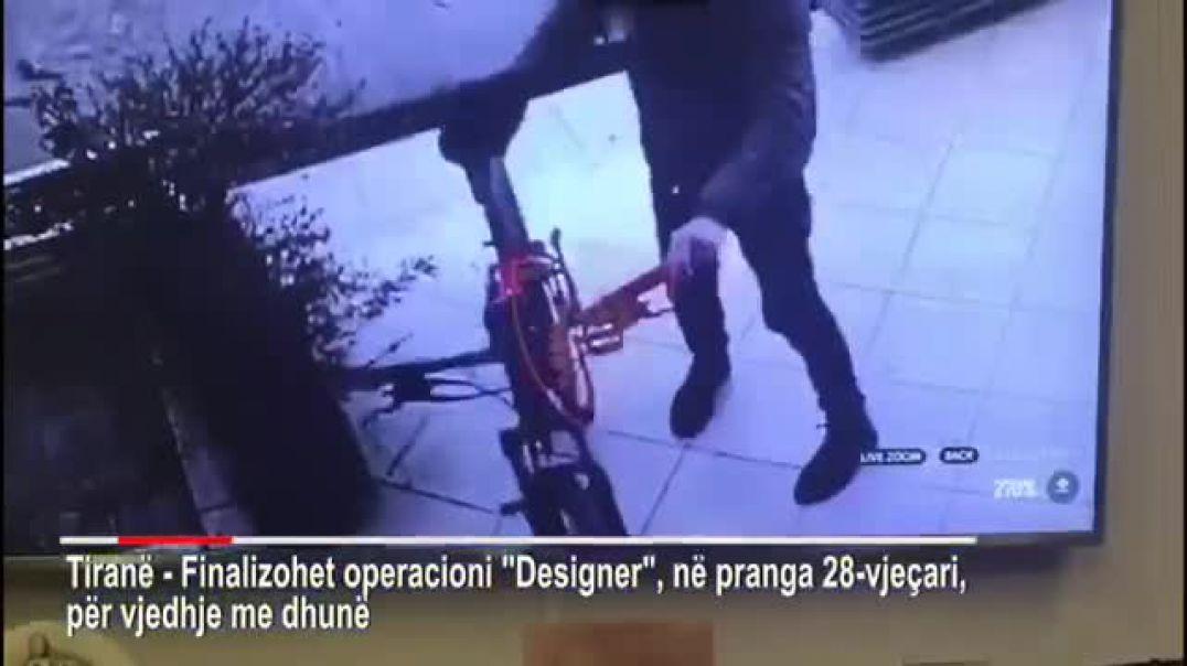 Operacioni Dizajner ne Tirane, ne pranga 27-vjeçari