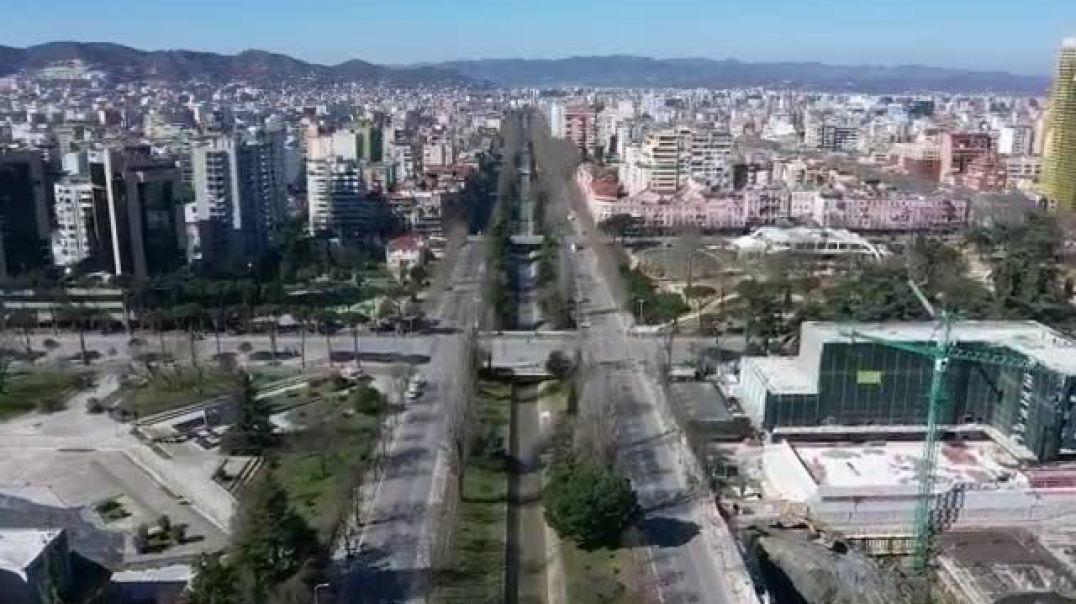 Tirana plotësisht e zbrazur nga koronavirusi