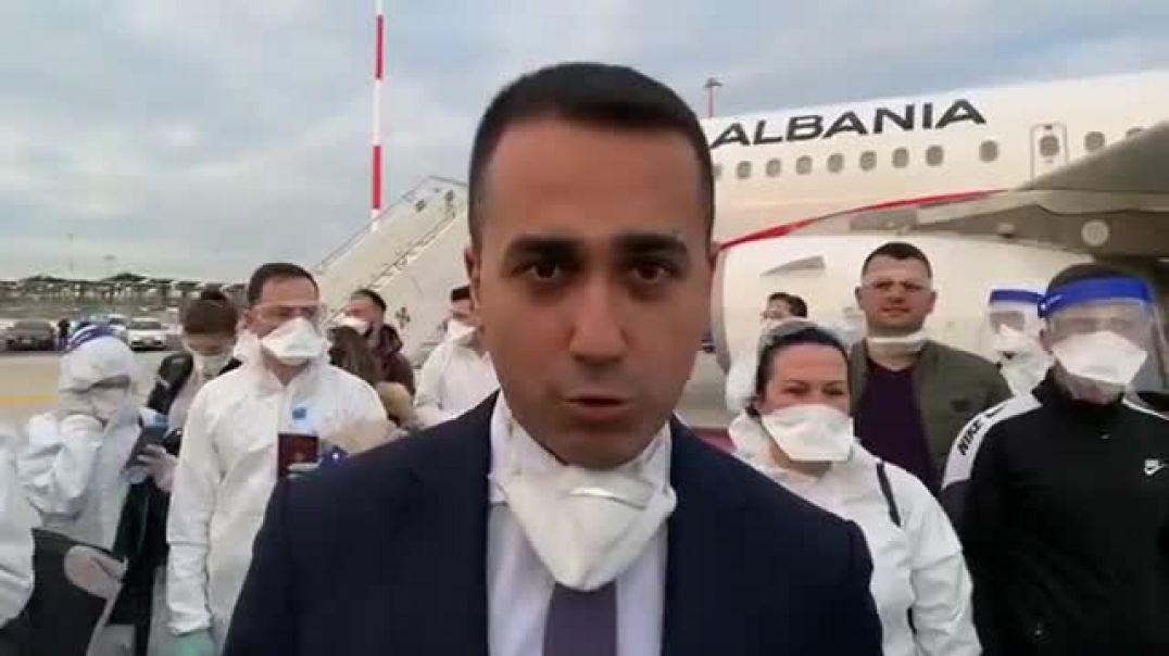 Di Maio pret mjekët e infermierët shqiptarë dhe thumbon BE: Shembull si ndihmohen popujt