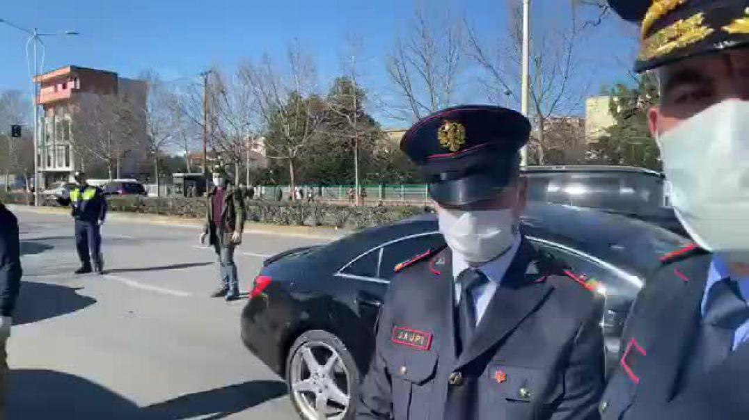 Policia kontrolle të forta në rrugët e Tiranës