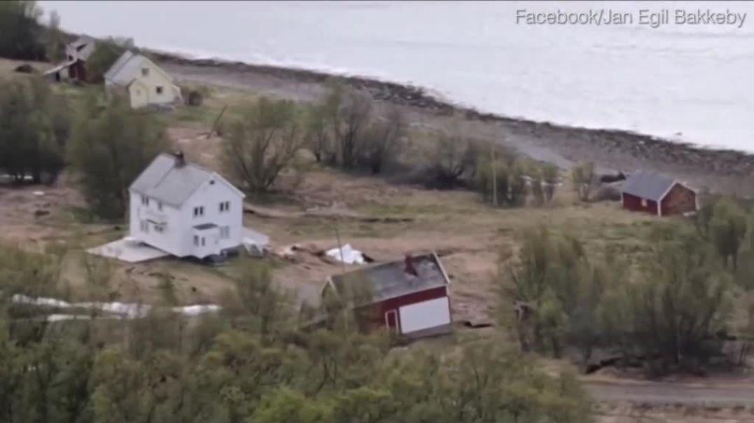 """Deti """"gëlltit"""" tokën me 8 banesa në Norvegji"""
