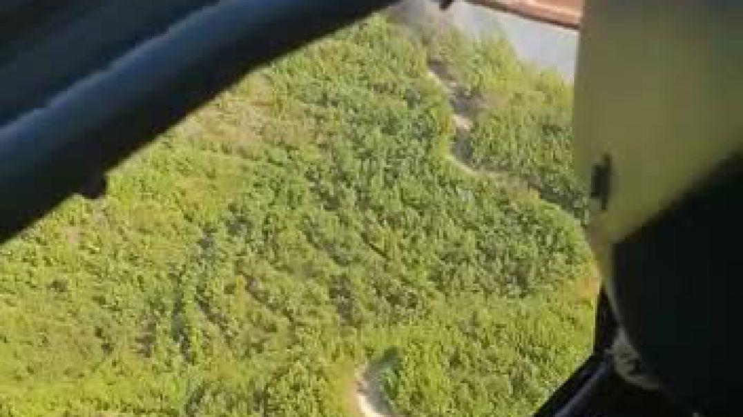 Helikopteri i ushtrisë shuan flakët në Kashar (Video)