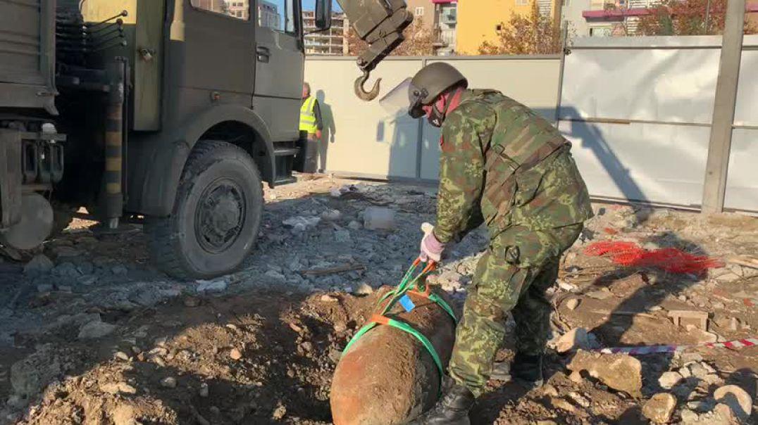 Në Tiranë gjendet bomba 500 kg e Luftës së Dytë Botërore