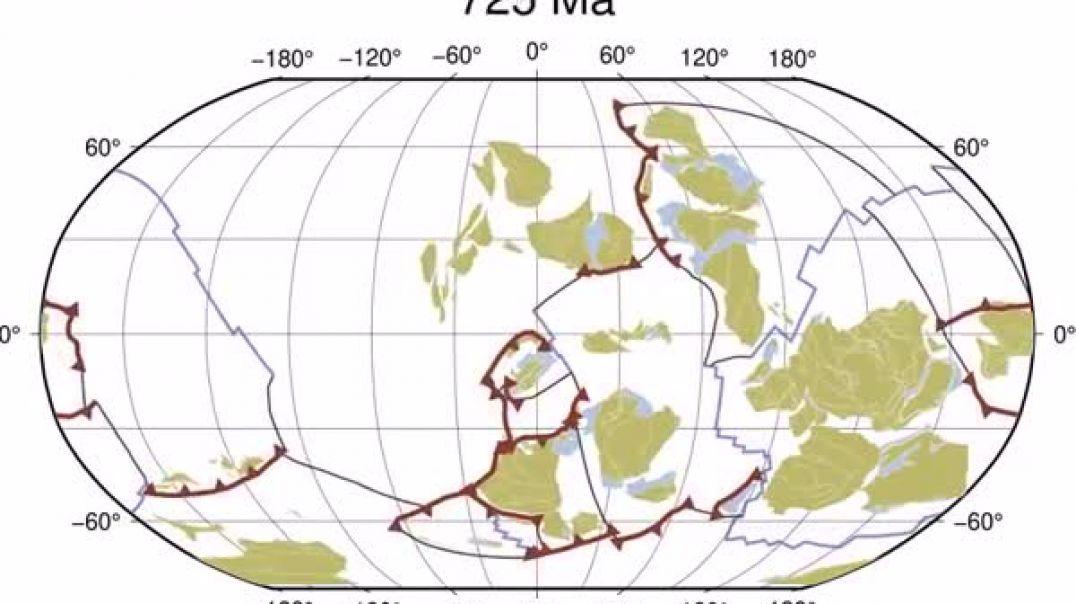 Vallëzimi i pllakave tektonike në 1 mld vite jetë të Tokës
