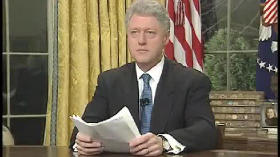 Kur Bill Clinton njoftonte bombardimin e Serbisë