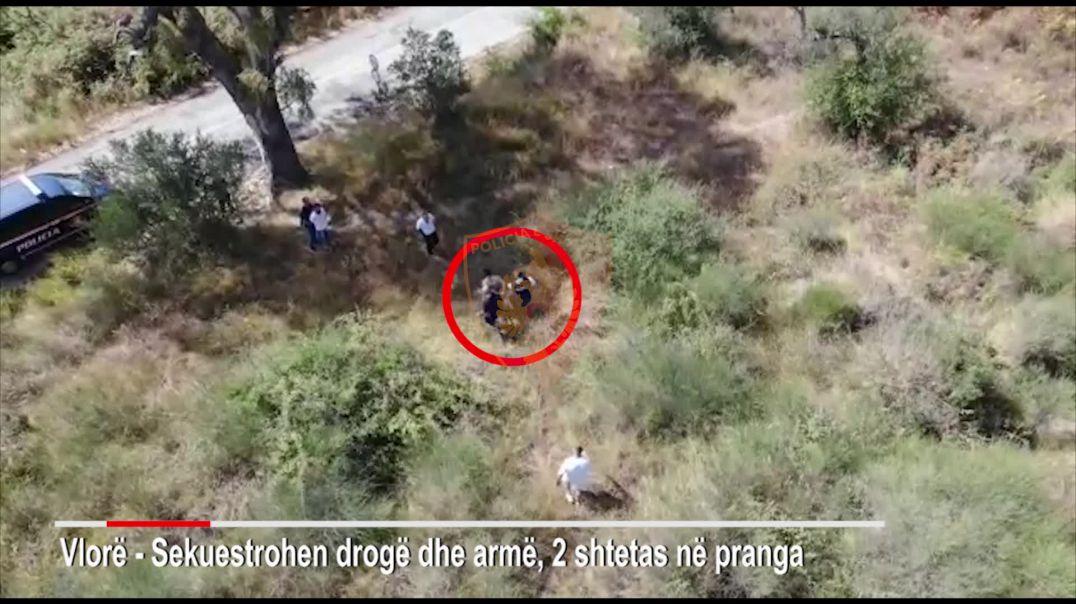 Operacion me dron në Vlorë, asgjësohet kanabis